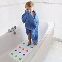 7534b3170615 Children are more prone to hurting themselves when in a bath tub. This non-slip  bath mat for babies is textured to eliminate the chances of your child ...